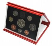 1993 Proof set Red Leather deluxe